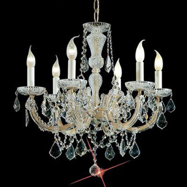 Classic Lighting Maria Theresa 22-in Olde World Gold C 6-Light Chandelier