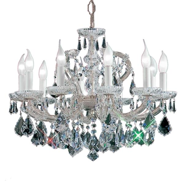 Classic Lighting Maria Theresa 18-in Chrome 10-Light Chandelier