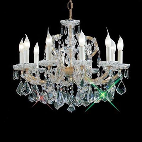 Classic Lighting Maria Theresa 18-in Olde World Gold 10-Light Chandelier