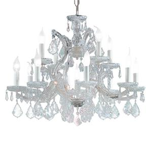 Classic Lighting Maria Theresa 22-in Chrome13-Light Chandelier