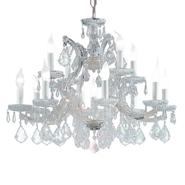 Classic Lighting Maria Theresa 22-in Olde World Gold 13-Light Chandelier