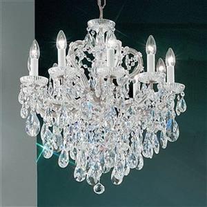 Classic Lighting Maria Theresa 25-in Chrome 10-Light Chandelier