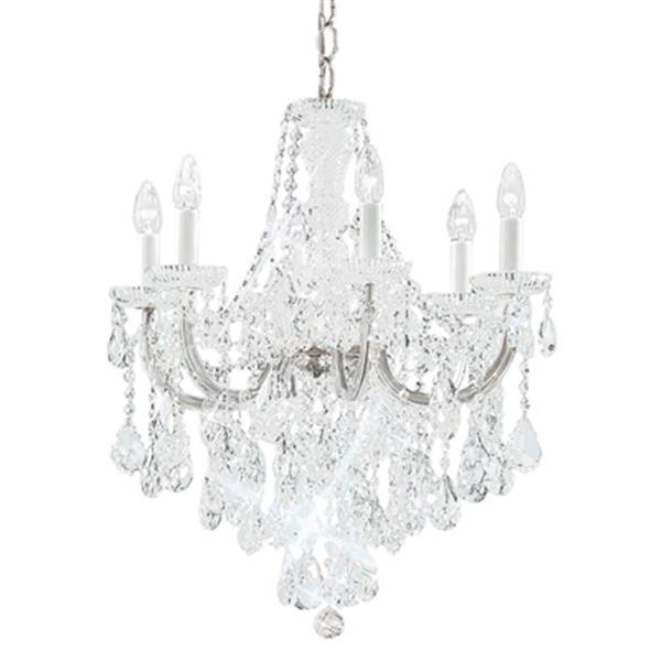 Classic Lighting Maria Theresa 26-in Chrome 6-Light Chandelier