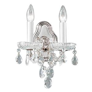 Classic Lighting Maria Theresa Collection Chrome Swarovski Strass 2-Light Wall Sconce