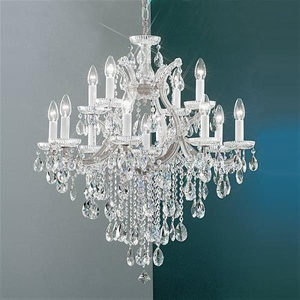 Classic Lighting Maria Theresa 32-in Chrome 13-Light Chandelier