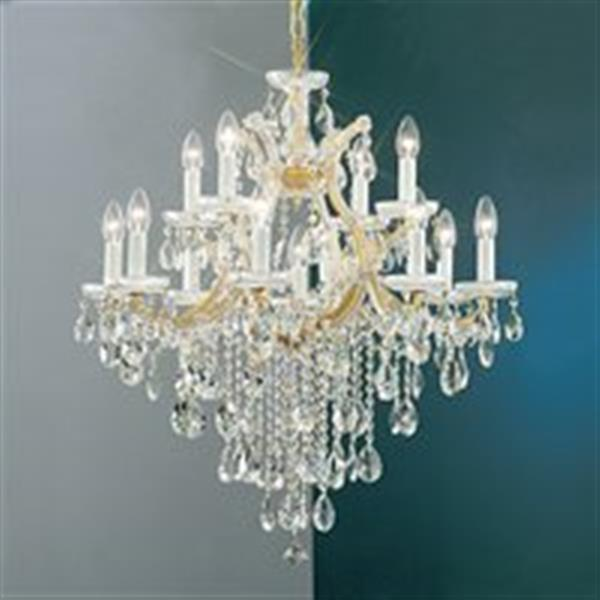 Classic Lighting Maria Theresa 32-in Olde World Gold 13-Light Chandelier
