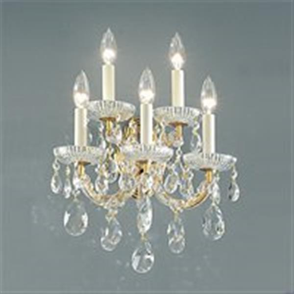 Classic Lighting Maria Theresa Collection Olde World Gold Crystalique 5-Light Wall Sconce