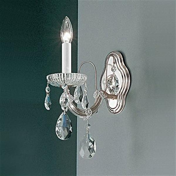 Classic Lighting Maria Theresa Collection Chrome Crystalique Wall Sconce