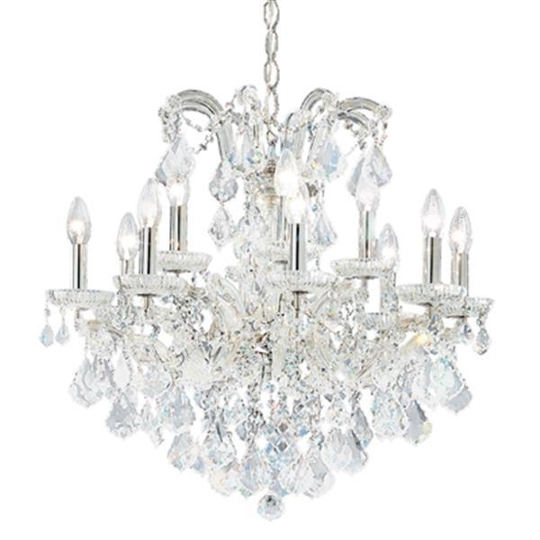 Classic Lighting Maria Theresa 24-in Chrome 12-Light Chandelier