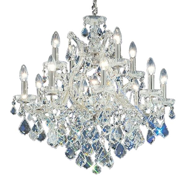 Classic Lighting Maria Theresa 29-in Chrome 13-Light Chandelier