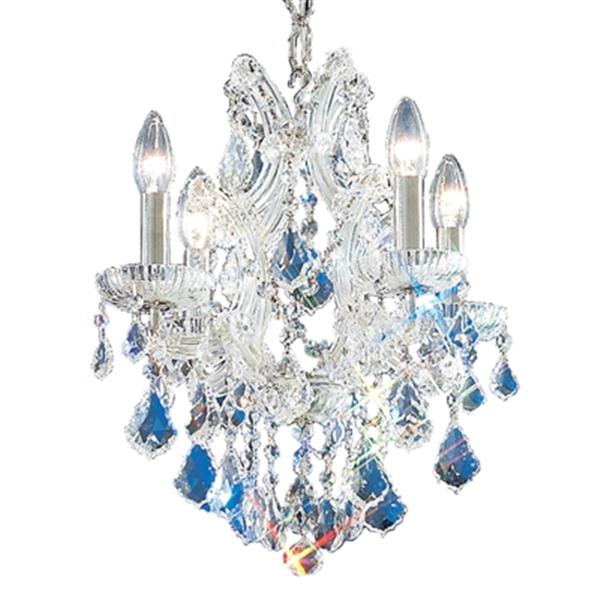 Classic Lighting Maria Theresa 17-in Chrome 4-Light Mini Chandelier