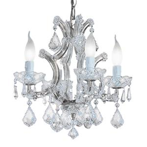 Classic Lighting Maria Theresa 16-in Olde World Gold 4-Light Mini Chandelier