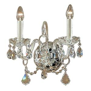 Classic Lighting Bohemia Collection 24k Gold Plate Swarovski Strass 2-Light Wall Sconce