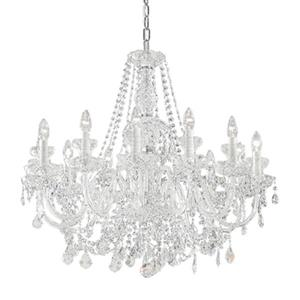 Classic Lighting Bohemia Collection 32-in x 26-in 24k Gold Plate Crystalique 12-Light Chandelier