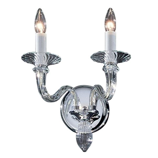 Classic Lighting Palermo Collection Chrome 2-Light Wall Sconce