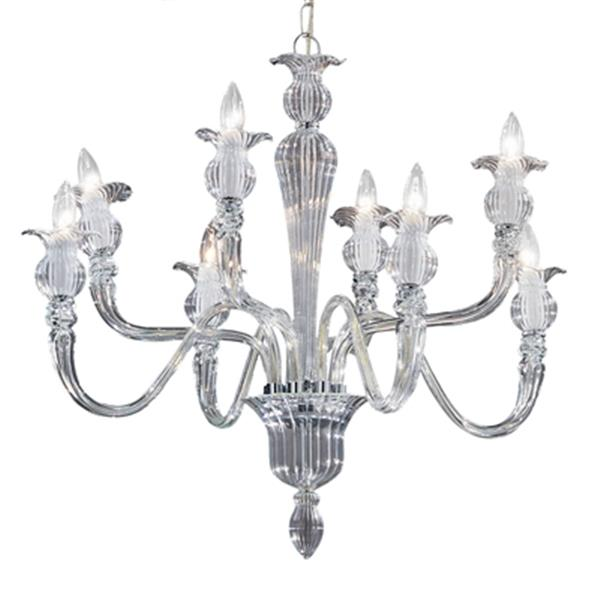 Classic Lighting Palermo Collection 32-in x 26-in Chrome 8-Light Chandelier