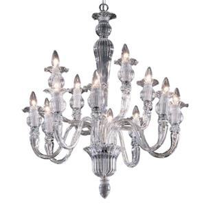 Classic Lighting Palermo Collection 32-in x 26-in Chrome 12-Light Chandelier