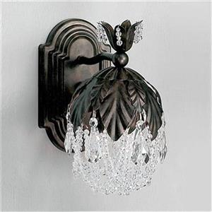 Classic Lighting Petite Fleur Collection English Bronze Crystalique Wall Sconce