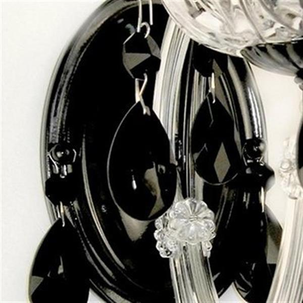 Classic Lighting Rialto Traditional Collection Black on Black Crystalique Black Wall Sconce