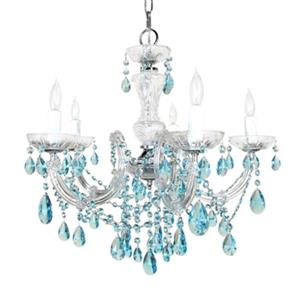 Classic Lighting Rialto Traditional Collection 22-in x 23-in Chrome Crystalique Black 5-Light Chandelier