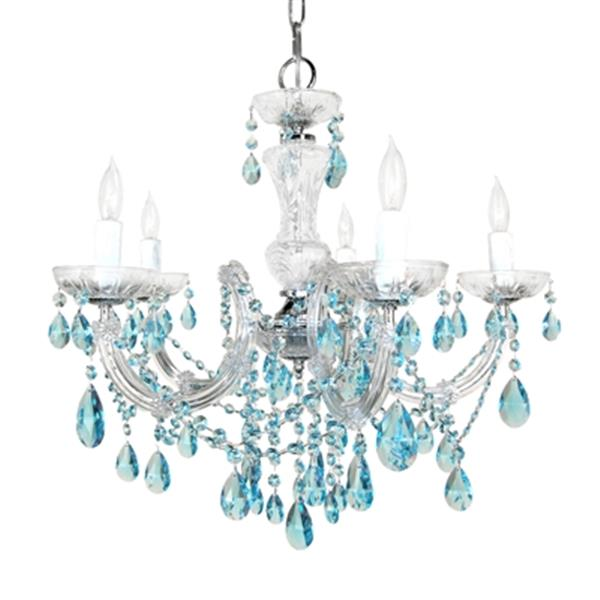 Classic Lighting Rialto Traditional Collection 22-in x 23-in Chrome Crystalique Golden Teak 5-Light Chandelier