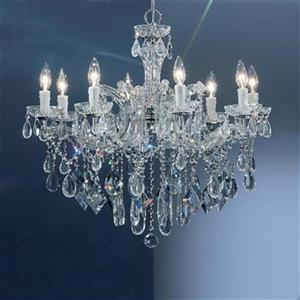 Classic Lighting Rialto Contemporary Collection 28-in x 25-in Chrome Crystalique 8-Light Chandelier