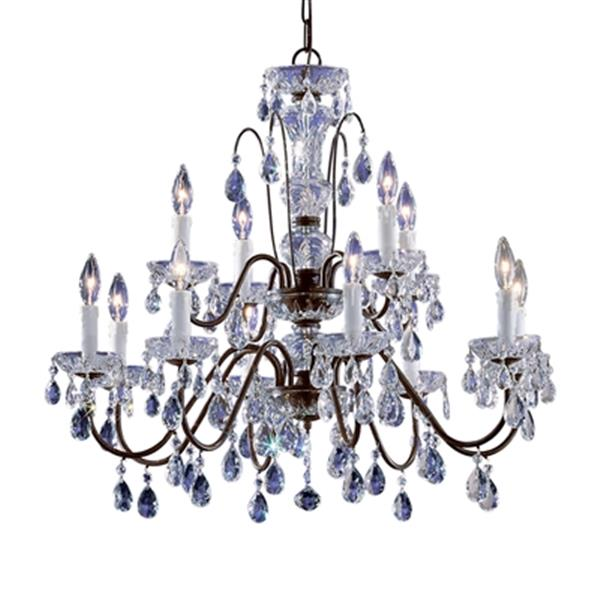 Classic Lighting Daniele Collection 29-in x 25-in Chrome Italian Crystal 12-Light Chandelier