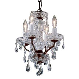 Classic Lighting Daniele Collection 11-in x 15-in Chrome Crystalique 4-Light Upgrade Mini Chandelier