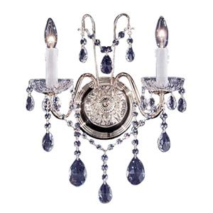 Classic Lighting Daniele Chrome Swarovski Strass 2-Light Premium Wall Sconce