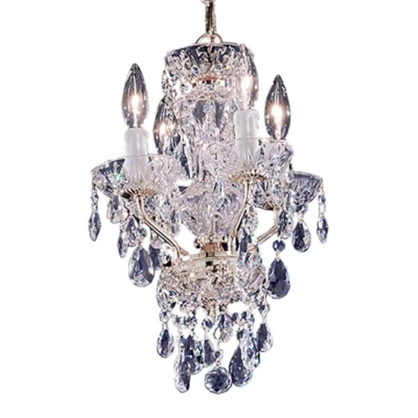 Classic Lighting Daniele Collection 11-in x 16-in Gold Plated Swarovski Spectra 4-Light Premium Mini Chandelier
