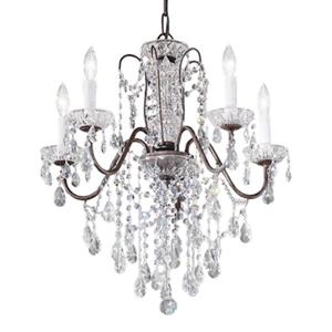 Classic Lighting Daniele Collection 22-in x 23-in Chrome Swarovski Spectra 5-Light Premium Chandelier