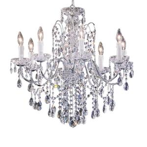 Classic Lighting Daniele Collection 25-in x 25-in Chrome Swarovski Strass 8-Light Premium Chandelier