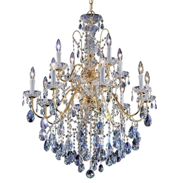 Classic Lighting Daniele Collection 29-in x 36-in Gold Plated Swarovski Strass 12-Light Premium Chandelier