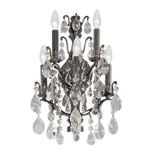 Classic Lighting Versailles Antique Bronze Crystalique 5-Light Transitional Wall Sconce