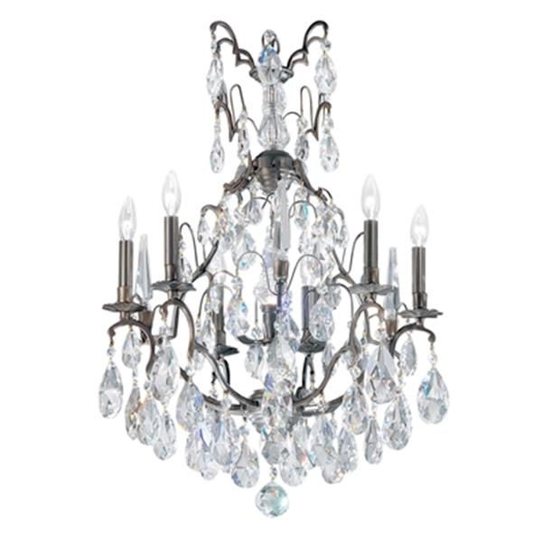 Classic Lighting Versailles Collection 23-in x 33-in Antique Bronze Crystalique 7-Light Chandelier