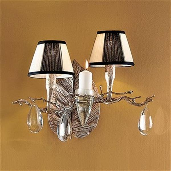 Classic Lighting 2 Light Morning Dew Silver Frost Wall Sconce