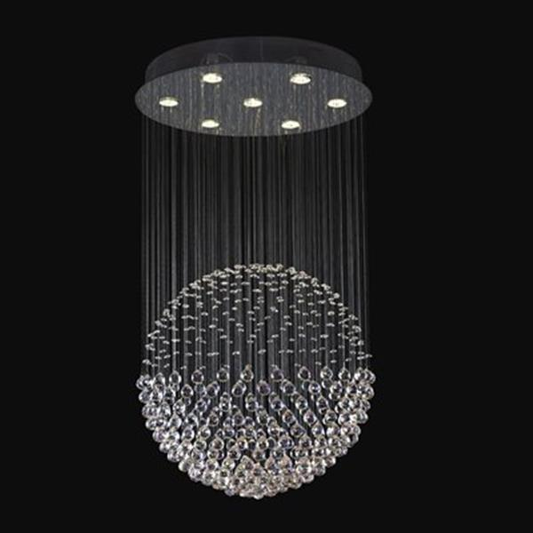 Classic Lighting Andromeda Collection 24-in x 43-in Chrome Crystalique-Plus 7-Light Sphere Chandelier