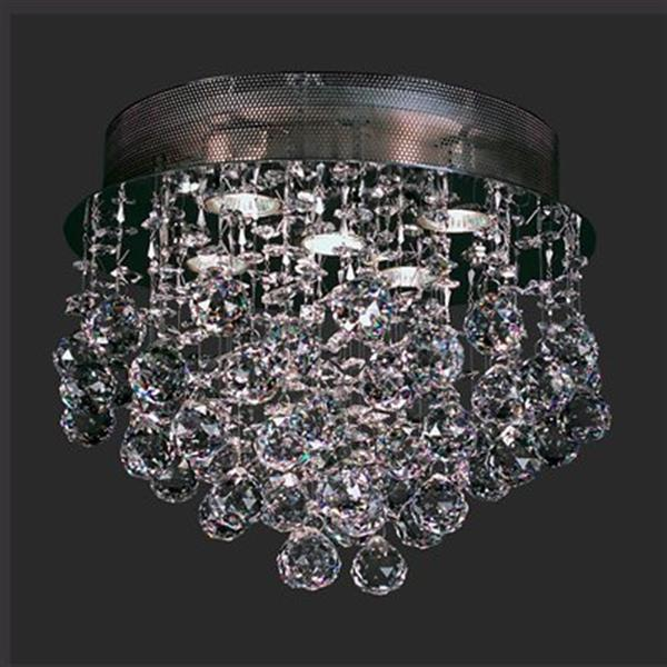 Classic Lighting 5-Light Adromeda Chrome Flush Ceiling Light
