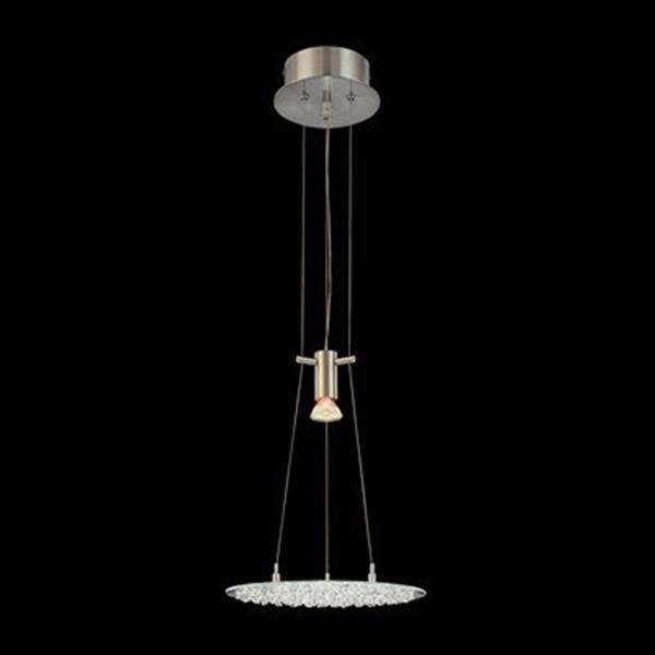 Classic Lighting Crystal Lake Satin Nickel Large Pendant Light