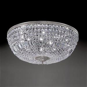 Classic Lighting Millennium Silver Crystal Baskets Flush Mount Ceiling Light