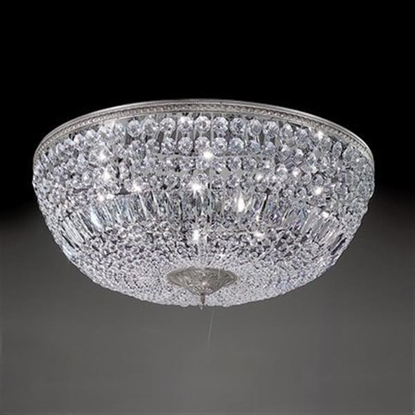 Classic Lighting Crystal Baskets Flush Mount Ceiling Light,5