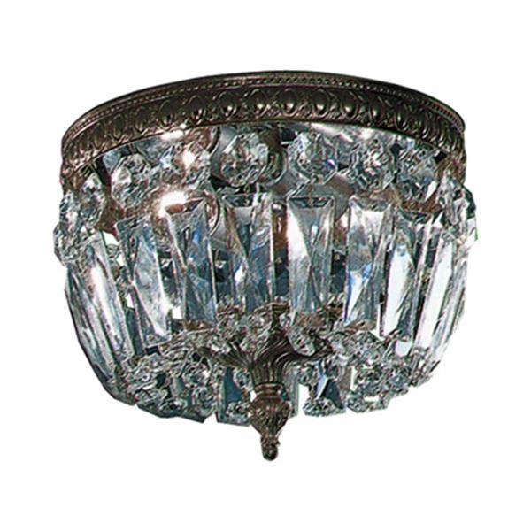 Classic Lighting Roman Bronze Crystal Baskets Flush Mount Ceiling Light