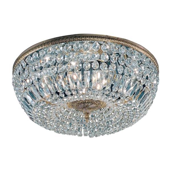 Classic Lighting Chrome Crystal Baskets Flush Mount Ceiling Light