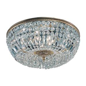Classic Lighting Roman Bronze Crystal Baskets Flush Mount Ceiling Light