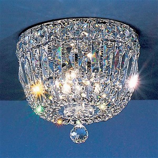 Classic Lighting Chrome Empress Flush Mount Ceiling Light