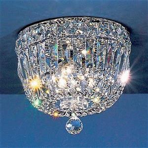 Classic Lighting 24k Gold Plate Empress Flush Mount Ceiling Light