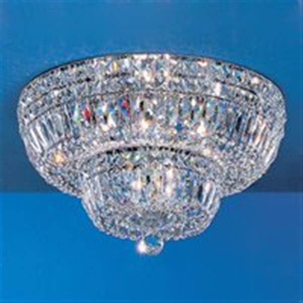 Classic Lighting 24k Gold Plate Empress Tier Flush Mount Ceiling Light
