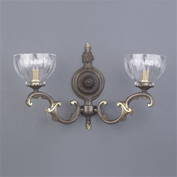 Classic Lighting 2 Light Warsaw Roman Bronze Wall Sconce