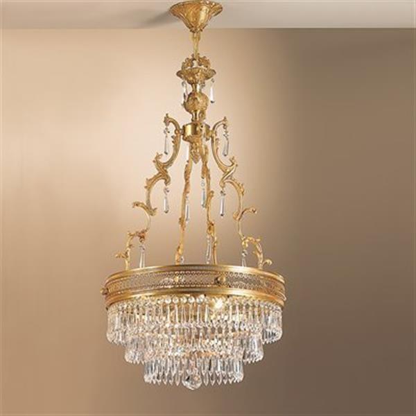 Classic Lighting 4-Light Renaissance French Gold Large Pendant Light