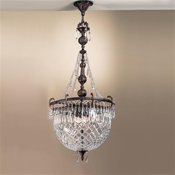 Classic Lighting 4-Light Waterbury Oxidized Bronze Large Pendant Light